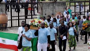 10 años de peregrinaciones con familias de Guinea ecuatorial