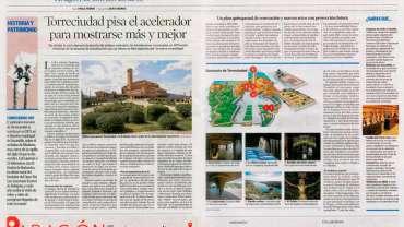 Reportaje a doble página sobre Torreciudad en Heraldo de Aragón
